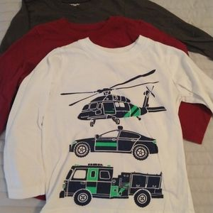 4 Carter's boys 2T long sleeve graphic tees